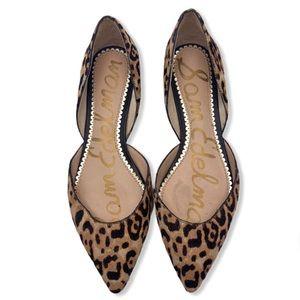 SAM EDELMAN Rodney d'Orsay Flats Cheetah Fur
